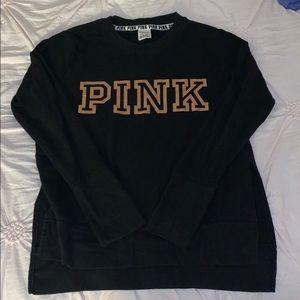 PINK rose gold logo sweatshirt
